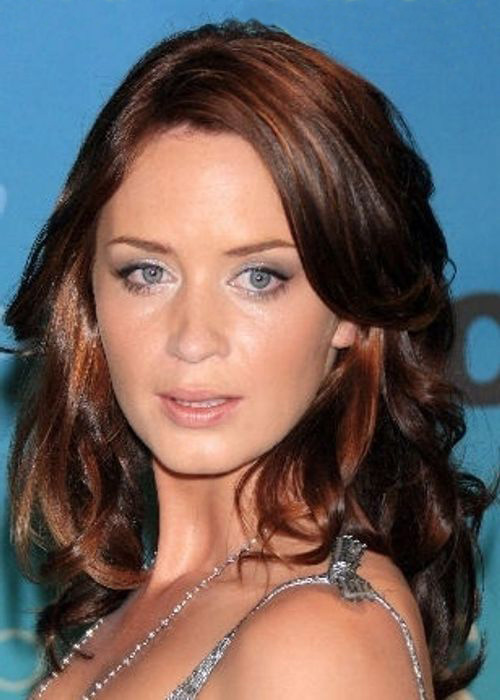 Dark brown auburn - Emily Blunt