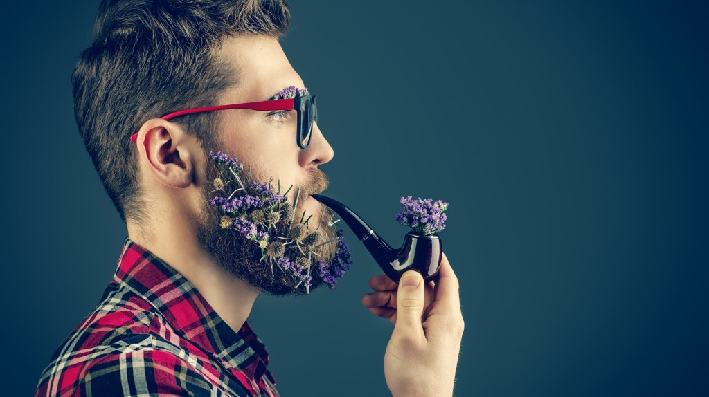 flower-beard-smoking