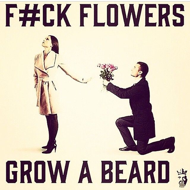 fuck  flowers - grow beard!