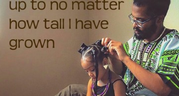 Inspiring fathers doing their daughters' natural hair with pride!