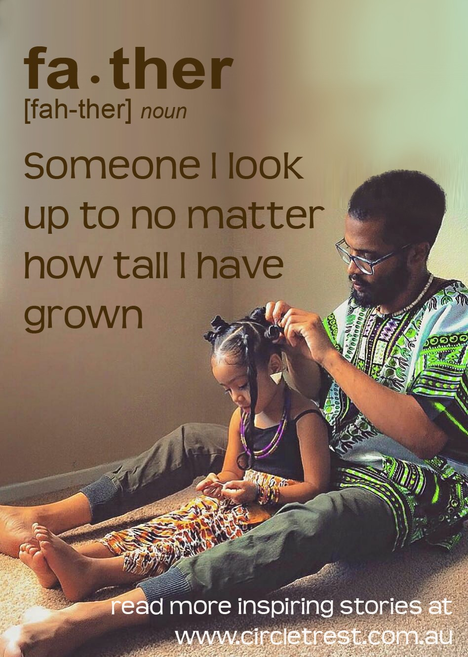 quote father doing daughers hair