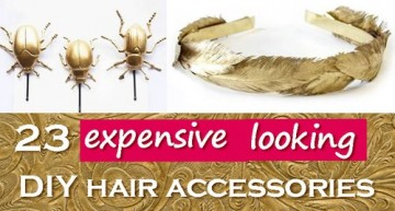 23 Expensive Looking Easy DIY Hair Accessories Gifts