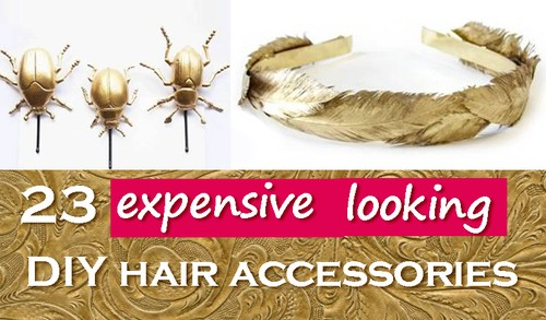 23 DIY hair accessories expensive looking