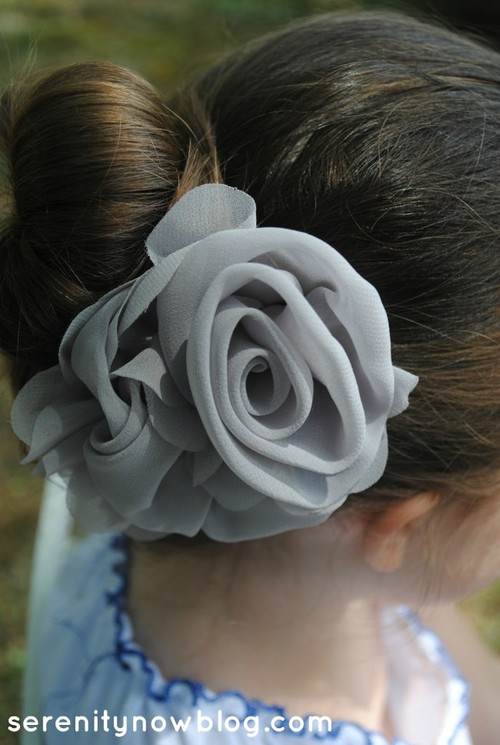 DIY Hair Accessories Grey Rose
