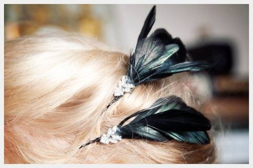 Feathered pins