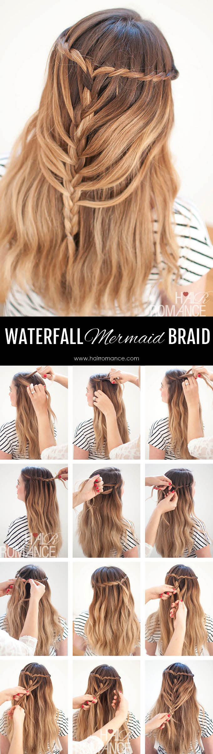 Hair-Romance-Waterfall-Mermaid-Braid-Tutorial-for-Long-Hair-7