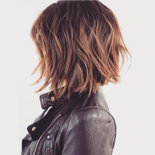 Bob with relaxed beachy waves
