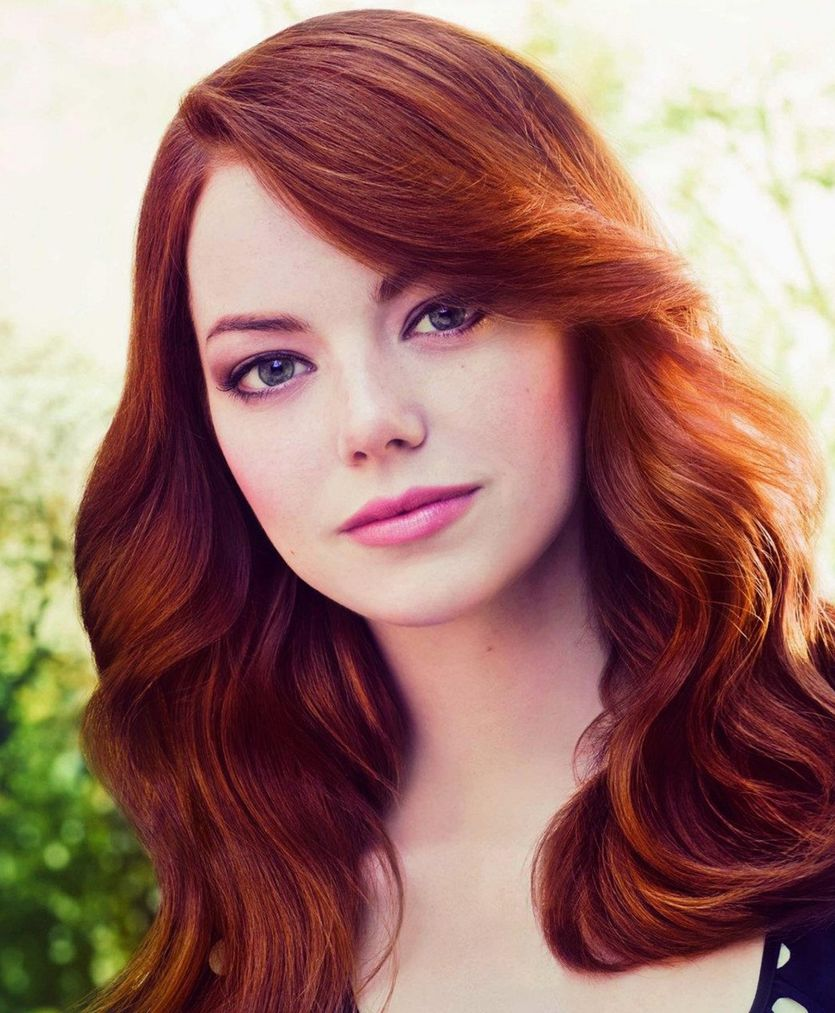 25 Famous Redheads To Inspire You To Try Auburn Hair Color ...  Emma Stone Red Hair