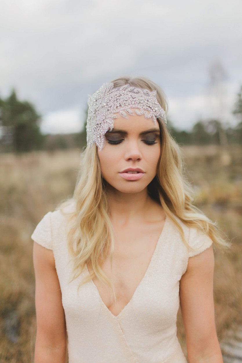 Bohemian Crystal Bridal Headband