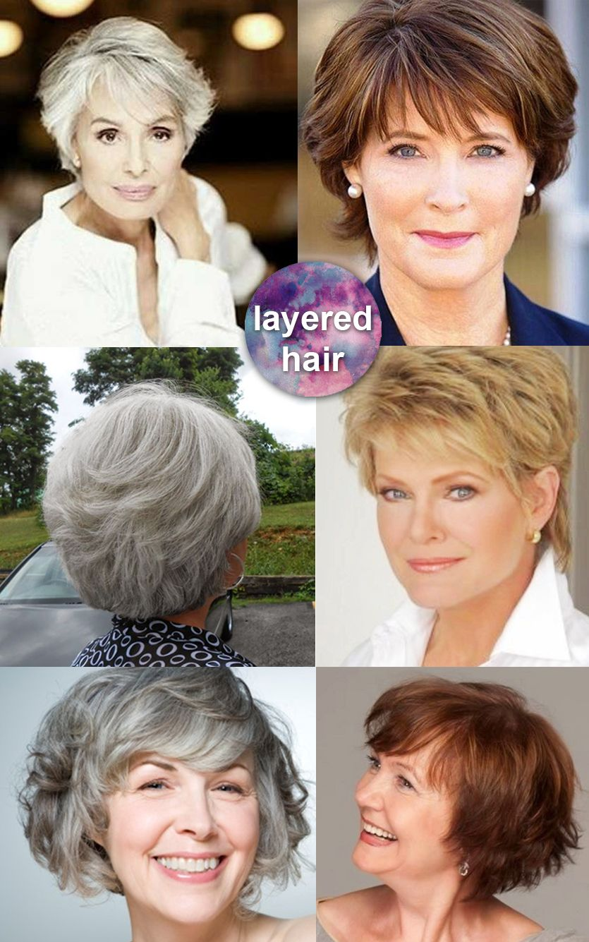 Modern layered hairstyles for mature modern over 50