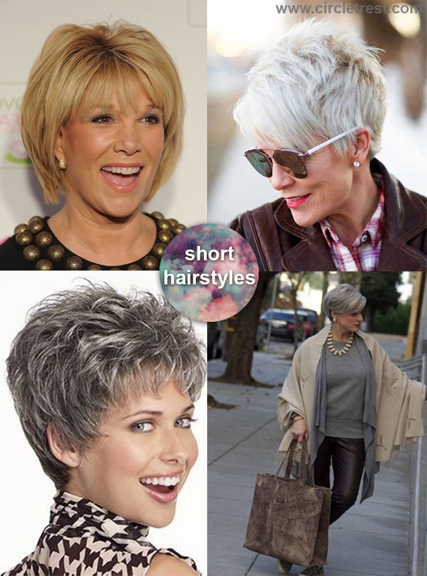 Simple short hairstyle for woman over 50