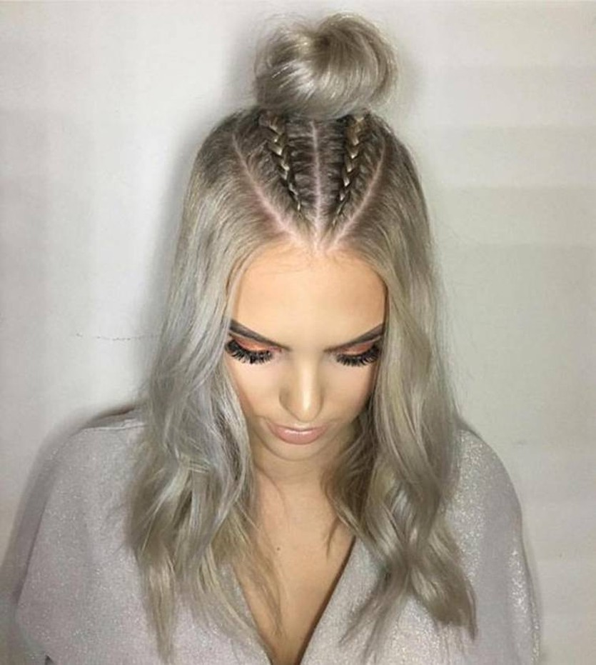 Trend Watch Mohawk Braid Into Top Knot Half Up