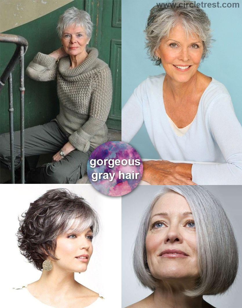 gorgeous gray short haircut for older woman