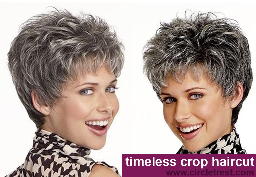 short crop haircut for mature woman