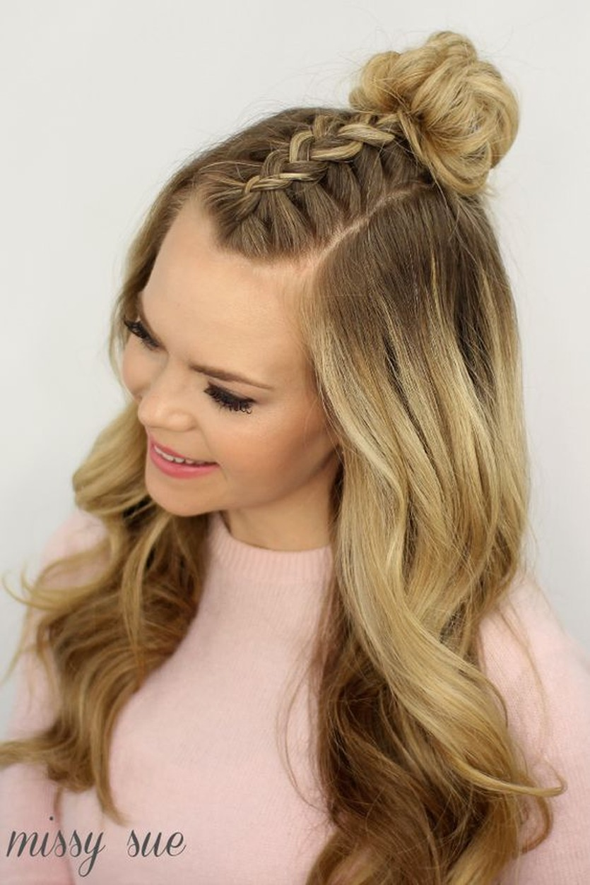Trend Watch – Mohawk braid into top knot half-up ...