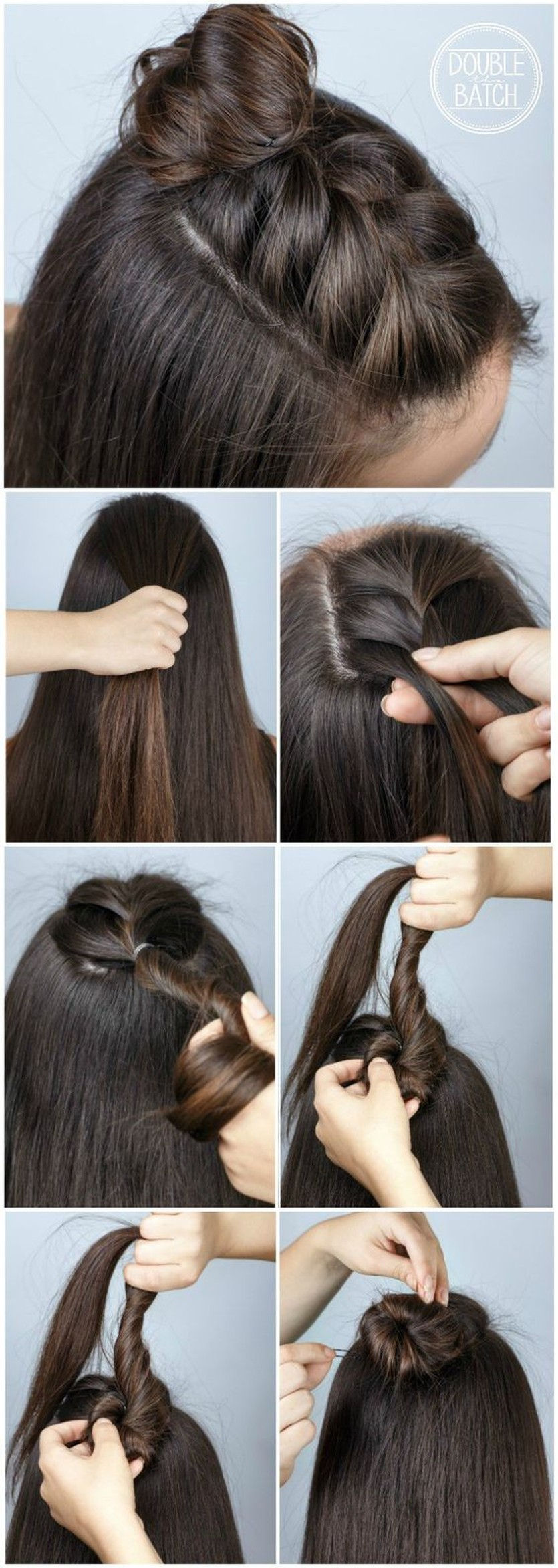 Trend Watch Mohawk Braid Into Top Knot Half Up Hairstyles Circletrest