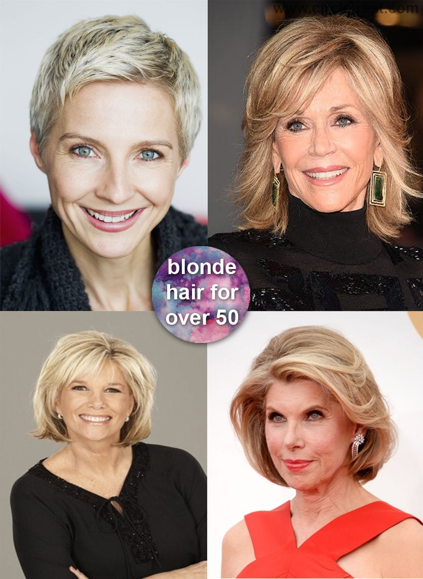 timeless short blonde hairstyles for older mature woman over 50